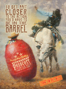 2018 Prescott Frontier Days® World's Oldest Rodeo® poster, signed by the artist