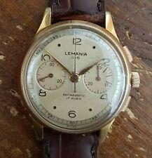 Cronografo lemania 105 calibro 1270 crono chronograph anni 40 molto raro