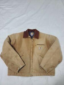 Carhartt J001 BRN Blanket Lined Duck Detroit Jacket USA Mens Size L  C4