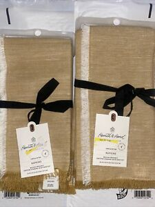 Set of 8 Cotton and Linen Napkins Golden Yellow - Hearth & Hand™ with Magnolia