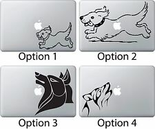 Dog Running Sticker Apple Mac Book Air/Pro Dell Laptop Decal Tribal Wolf Howling