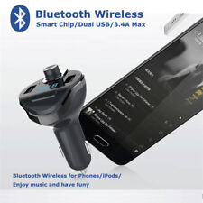 Bluetooth FM Transmitter Car Charger with Mic/TF Card/USB Port for iPhone Samsun