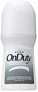 Avon On Duty 24 Hours Unscented Roll-On Anti-Perspirant Deodorant 2.6 fl oz