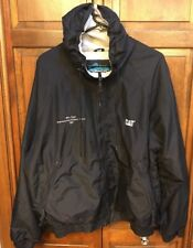 Caterpillar CAT Jacket Hooded Nylon Shell Insulated Workwear Black Men's L