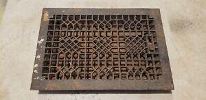 Antique Cast Iron Floor Furnace Grate Register