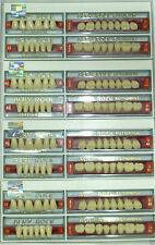 Lot X 4 Full Set Dental Acrylic Teeth ACRY ROCK Ruthinium in All Sizes & shades