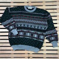 Mens Vintage Hugo Boss Sweater Sweatshirt Made in West Germany Size L D54 Wool