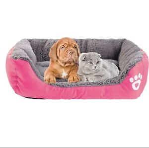 Paw Pet Sofa Beds Waterproof Bottom Soft Fleece Warm Dog Cat Bed House Large