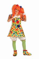 GIGGLES THE CLOWN WOMEN'S CIRCUS CLOWN DRESS HALLOWEEN COSTUME SIZE 14/16