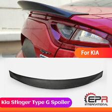 FRP Fiber For 2018 Kia Stinger Type G Rear Trunk Duackbill Spoiler Unpainted Kit
