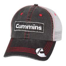 Cummins Diesel Engines Trucker Embroidered Patch Distressed Denim Mesh Cap Hat