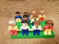 10 LEGO DUPLO FIGURES NICE CONDITION TRAIN DRIVER GRAN MUM DAD