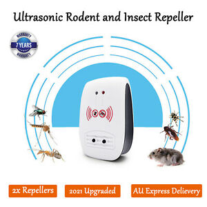 2021 Upgraded Ultrasonic Electronic Pest Mouse Cockroach Repeller Insect Reject