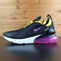 Nike Air Max 270 Mens Size 10.5 Running Shoes Black Magenta AH8050 006