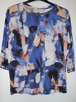Reiss Abstract Soft Blue Mix Top Size Small