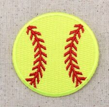 Large Softball Neon Yellow/Team Sports/Ball - Iron on Applique/Embroidered Patch