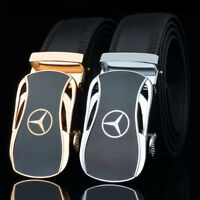 Men Car Logo Automatic Buckle Leather Girdle Business Casual Mercedes² Benz Belt