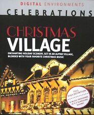 Christmas Village Blu-ray Holiday Scenery Music Decor Lights High Def Widescreen
