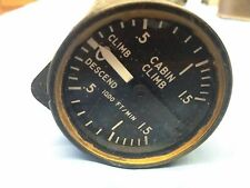 DC-9 cabin vertical speed gauge