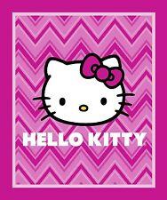 HELLO KITTY CHEVRON PANEL FABRIC - PINK