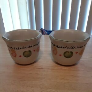 """Stoneware 3"""" Vanilla Scent Candle """"Fresh Baked With Love ..Sweet Things in Life"""""""