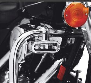 Brand New  Harley Davidson OEM lamps  -Engine Guard  Mounted Chrome Finish. Pair