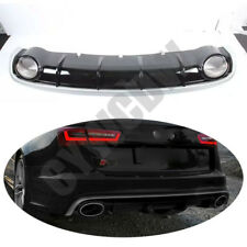 Suitable For Audi A6L 2012-2016  Rear Bumper Rear Lip+Tail Throat Refit
