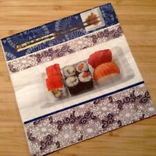Paper Napkins Serviettes Sushi  Fish Seafood Japanese Theme Modern 3 Ply Pack 20