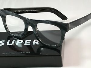 RetroSuperFuture Ciccio Optical Black Horn Glasses SUPER 06X NIB