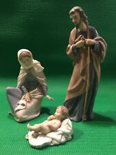 Nao by Lladro Nativity set w/ Mary, Joseph, and Jesus Mint In Boxes