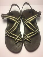 Chaco Women's Sz 10 Z/X2 Vibram Strappy Sport Sandals Brown/Yellow(Marigold)