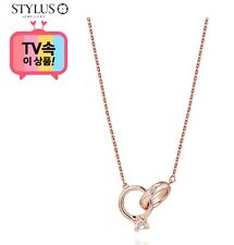 Stylus Jewelry Promise 3 14K Necklace 251300265 Pink Gold Cubic Zirconia