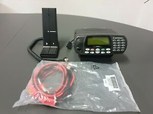 Motorola GP380 VHF 1-25W with desk mic, desk stand with speaker and power cable
