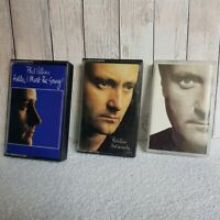 Bundle 3x Vintage PHIL COLLINS Cassette Tapes Face Value, But Seriously, Hel...