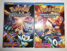 Pokemon Book Lot - Diamonds and Pearl Adventure Volume 1 and 2 Vizkids GO manga