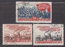 RUSSIA SU 1948 USED SC#1234/36  Industrial five-year plan.