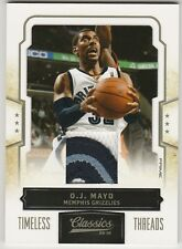 2009-10 CLASSICS O.J. MAYO TIMELESS THREADS PRIME PATCH /25