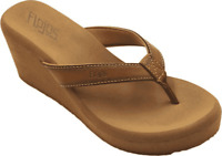 Women's Flojos Olivia Vintage Wedge Sandal Tan Burnished Polyurethane
