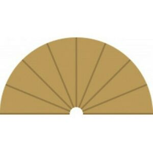 Scalextric C8279 Radius 1 Curve Inner Borders - 2 x 180 degree
