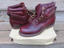 Vintage Hanover Engineer Genuine Horsehide Leather Hipster Men's Size 10 D Boots