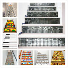 6Pcs Staircase Stair Riser Stickers DIY Wall Decals Home Decor Self Adhesive