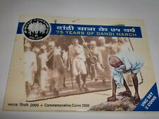"INDIA-2 COIN UNC. SET-"" 75 YEARS OF DANDI MARCH ""-MAHATMA GANDHI -2005-RS.100+5"