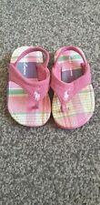 baby girls pink polo Ralph Lauren sandals uk size 1