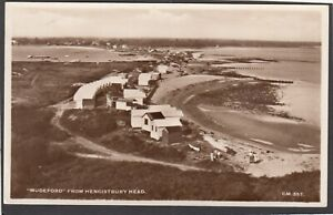 Postcard Mudeford from Hengistbury Head nr Christchurch Dorset beach huts RP