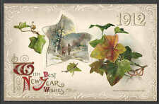 Ca 1911 PPC* BEST NEW YEAR WISHES 1912 EMBOSSED MINT