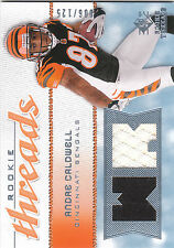 2008 SP Threads Rookie Threads Andre Caldwell dual jersey RC Bengals 006/125