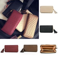 Women Leather Clutch Long Wallet PU Card Holder Purse Handbag Envelope Bag TR