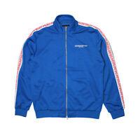 Mens Crooks Castles CNC Polyester Track Jacket Royal Blue