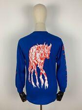 Welcome Maned Wolf camuflaje t-shirt té top Sweater sudadera jersey azul S