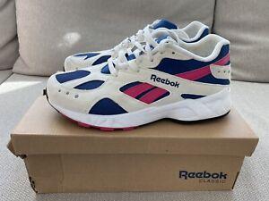 Reebok Aztrek Suede Trainers CN7068 White/Pink/Blue/Chalk UK 7 /US 8 /EUR 40.5